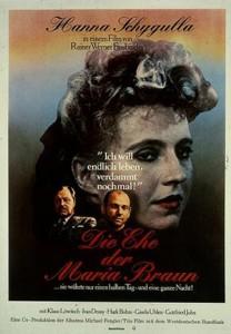 """Cartel original de la película de Fassbinder """"Die Ehe der Maria Braun"""""""