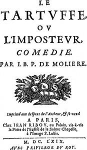"""""""Tartuffe ou límposteur"""", de Molere traducida como """"El hipócrita"""" por el Abate Marchena"""