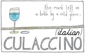 Culaccino, o esa marca dejada en la mesa por una bebida fría