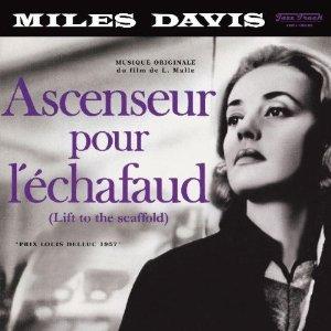 """Portada del disco de Miles Davis con la banda sonora de la película de Louis Malle """"Ascenseur pour l´Échafaud """""""